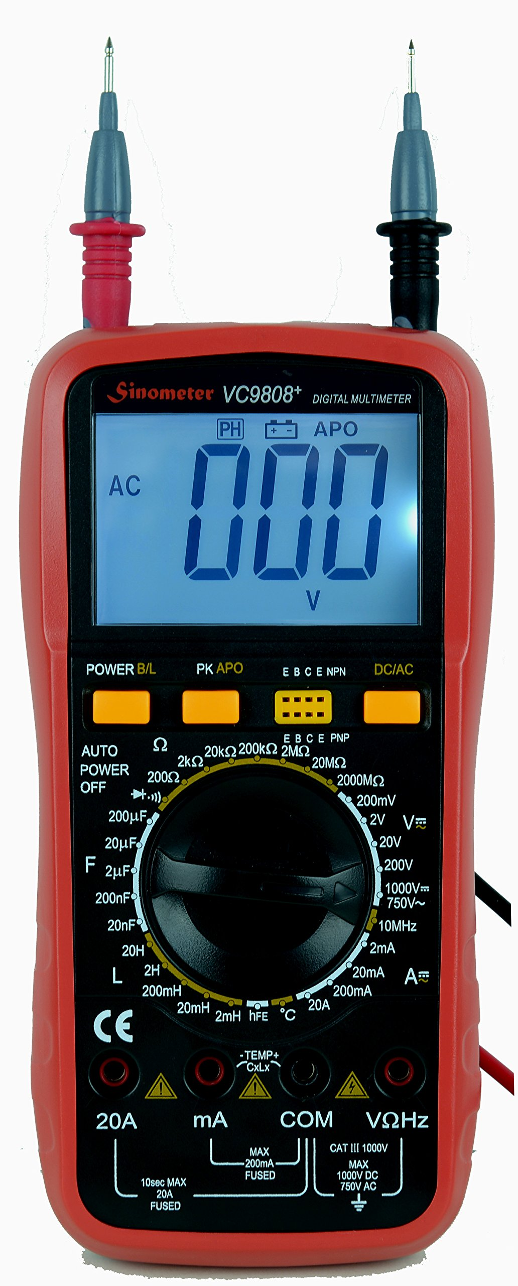 Sinometer VC9808 30-Range Digital Multimeter & LCR Meter, A Professional Multimeter for L C R Measurement by Sinometer