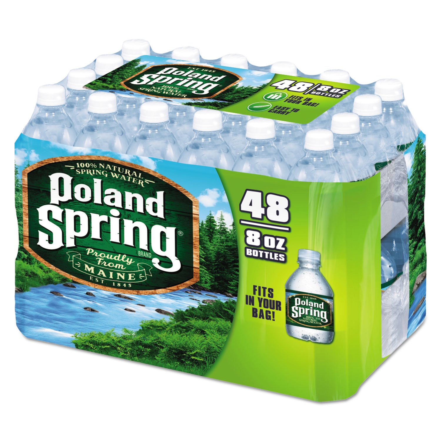 Poland Springs Original Water, 8 Ounce - 48 per case.