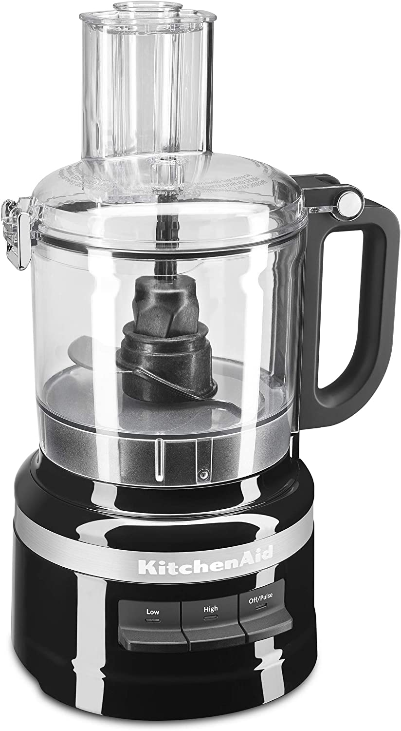 KitchenAid KFP0718OB Easy Store Food Processor, 7 Cup, Onyx Black
