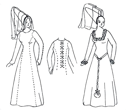 Amazon com: Medieval Kirtle (Kyrtle) Pattern: Arts, Crafts