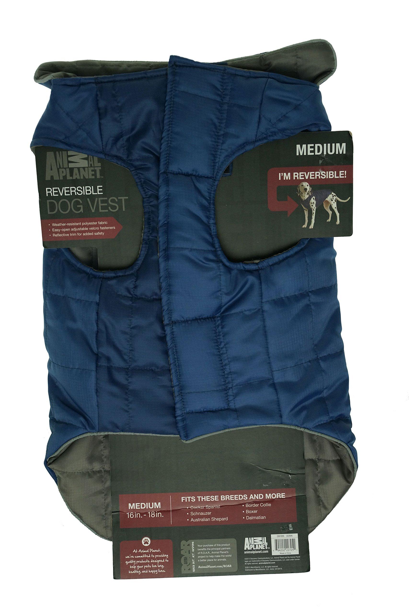 Animal Planet Reversible Dog Vest (Blue/Grey, Medium)