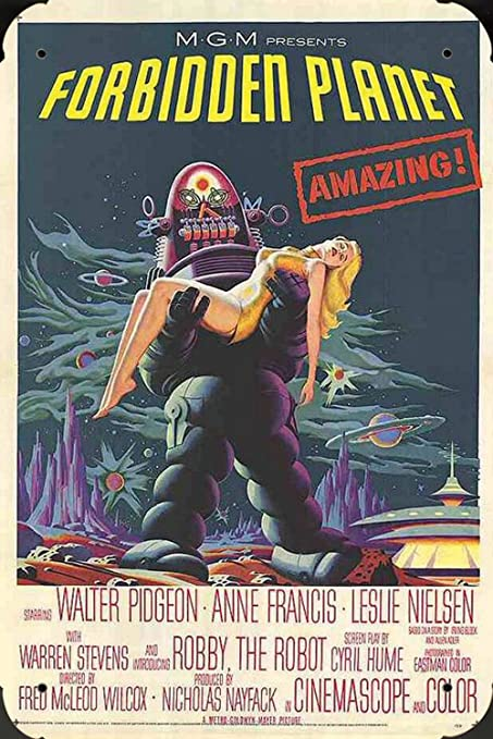 Forbidden Planet Ver1 pelicula metal poster cartel hojalata ...