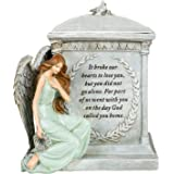 """Roman 48476 8.5"""" Inch Height Memorial Urn Forever with the Angels"""
