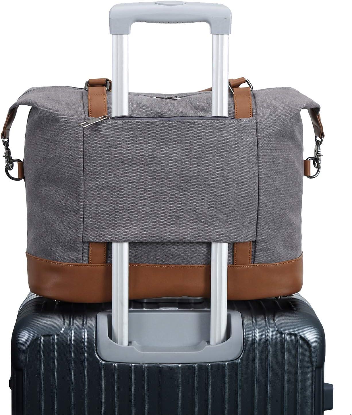 Sky Travel Carry-on Luggage Weekender Bag Overnight Tote Flight Duffel In Trolley Handle