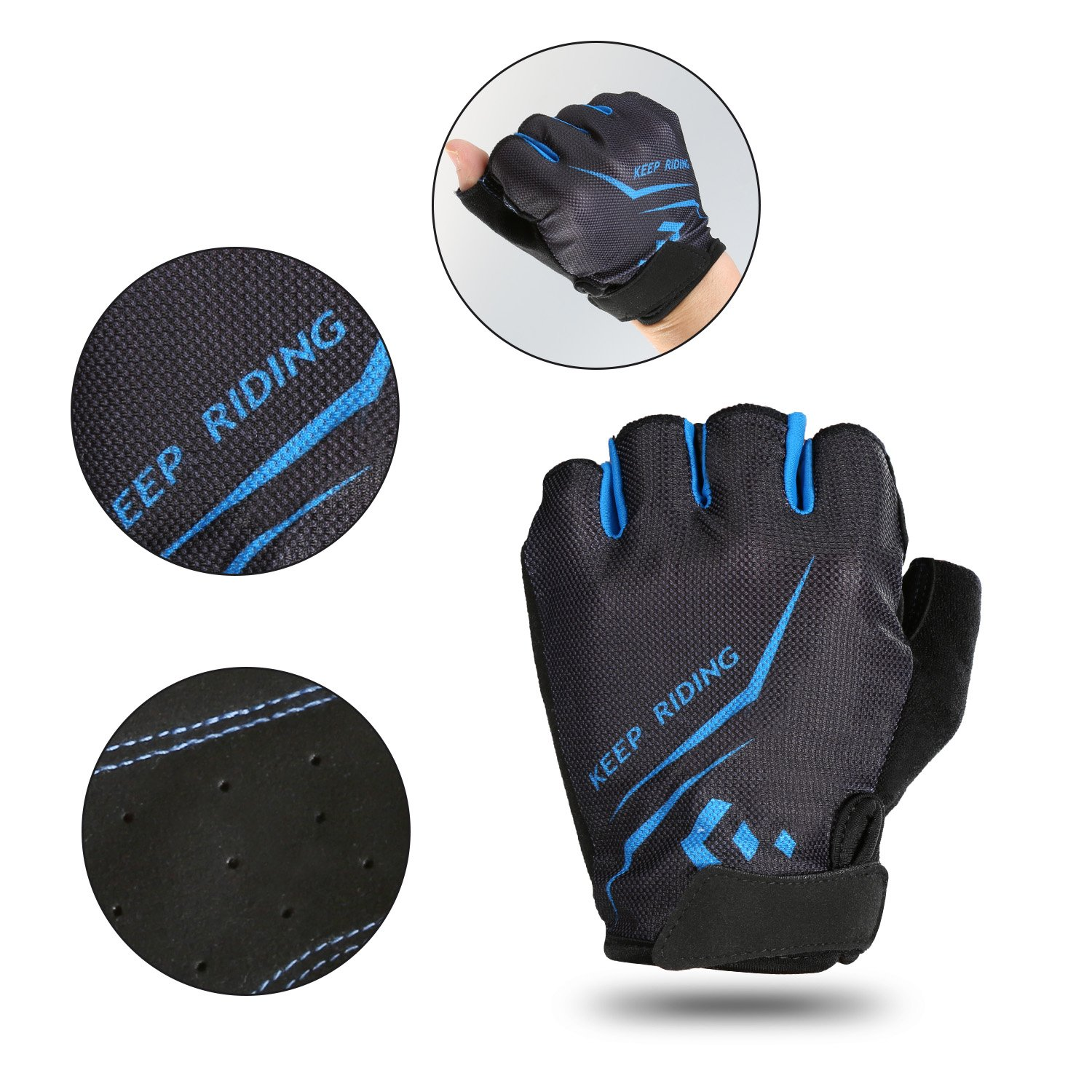 Outdoor Sports Riding Racing Equipment Cycling Gloves Hicool Summer Half Finger Breathable Biking Bicycle Gloves for Exercise