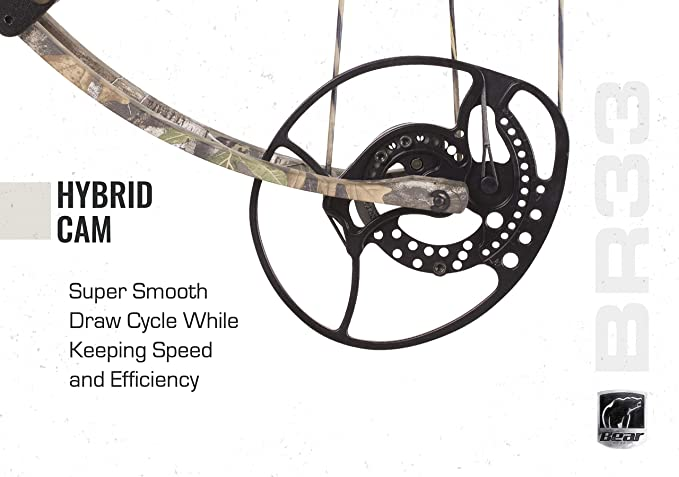Bear Archery BR33 Hybrid Cam Compound Bow Includes Ready to