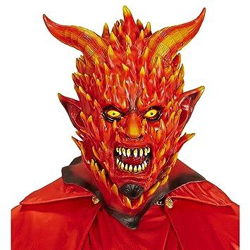 WIDMANN vd-wdm05404 Máscara Demonio de fuego, talla única
