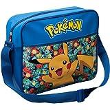 Pokemon Pikachu Dispatch Courier Bag Children's Blue Shoulder College Schoolbag