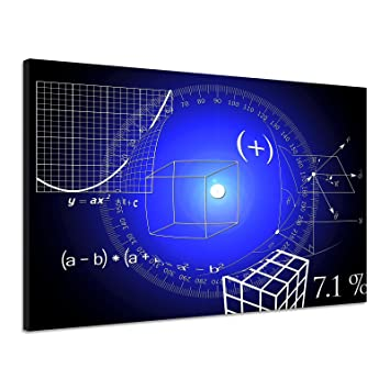 Amazonde Mathematik Physik Formel Rechnung Wurzel Blau Leinwand