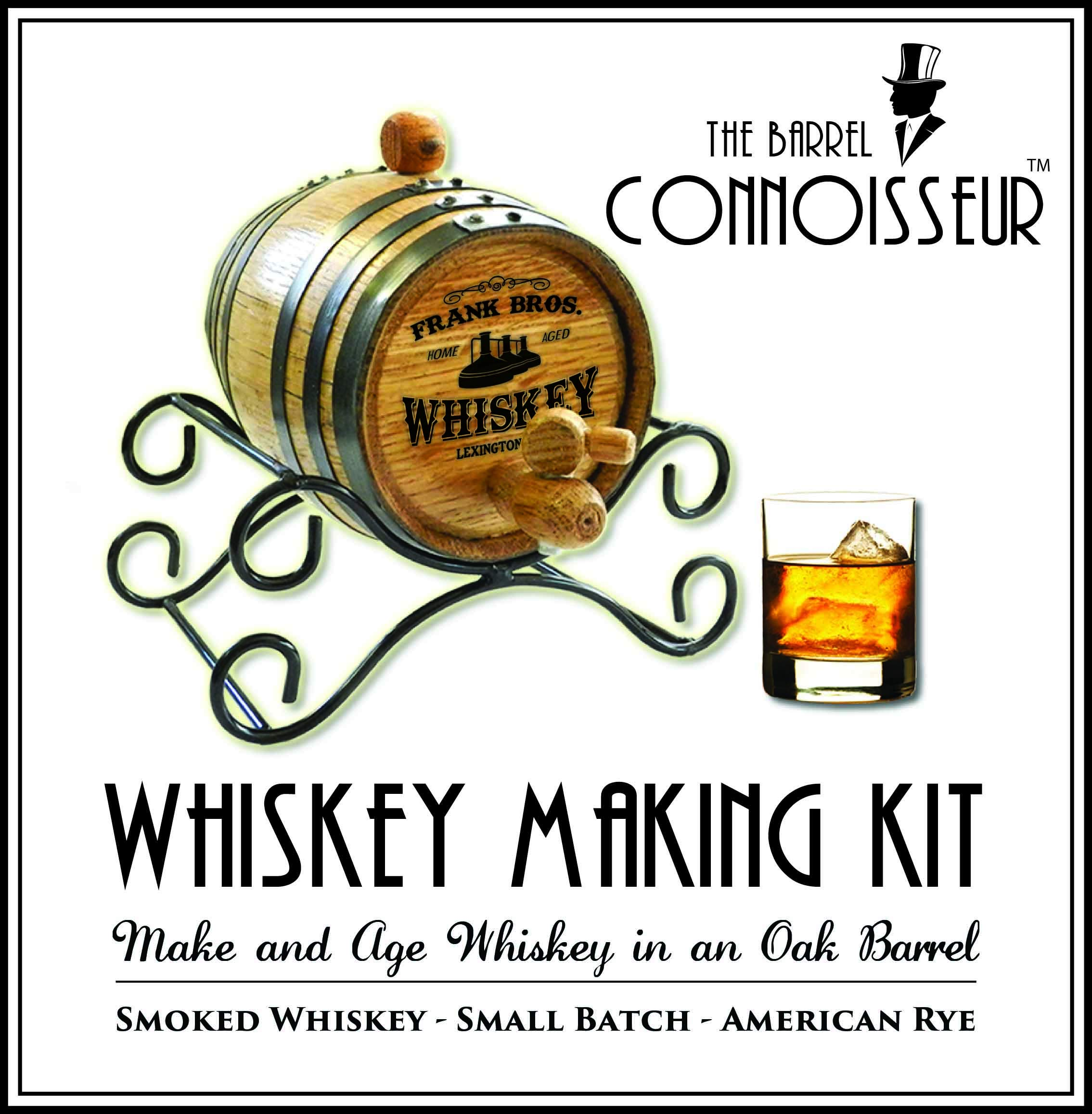 Personalized Barrel Connoisseur Whiskey Making Kit (2 Liter)