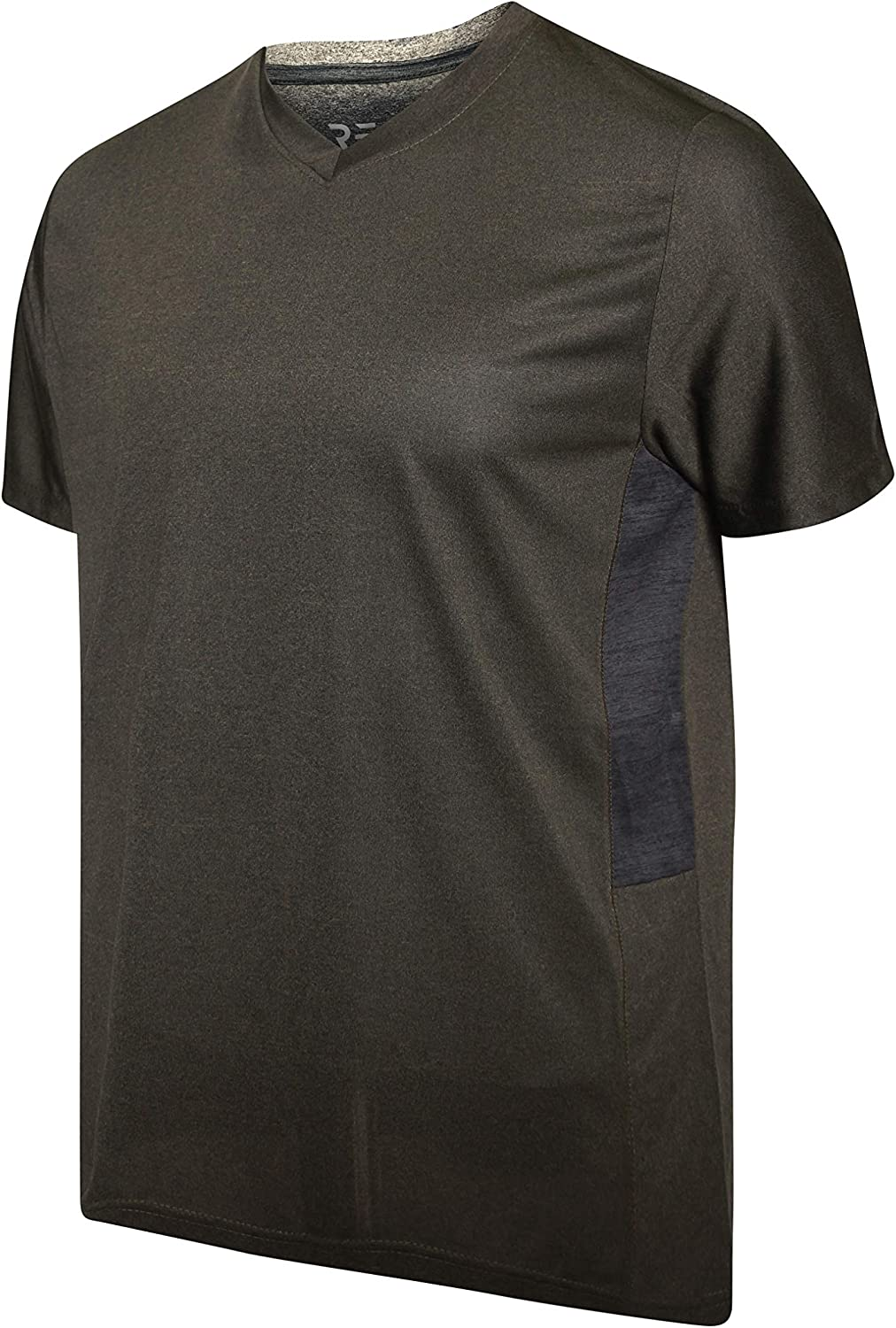 5 Pack Men/'s V-Neck Dry-Fit Moisture Wicking Active Athletic Tech Performance T-Shirt