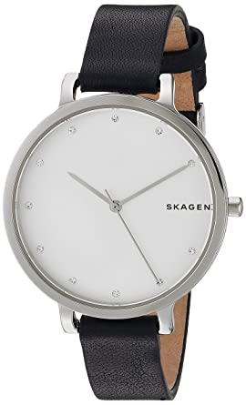 0322ede9cfed Amazon.com  Skagen Women s SKW2581 Hagen Blue Leather Watch  Skagen ...
