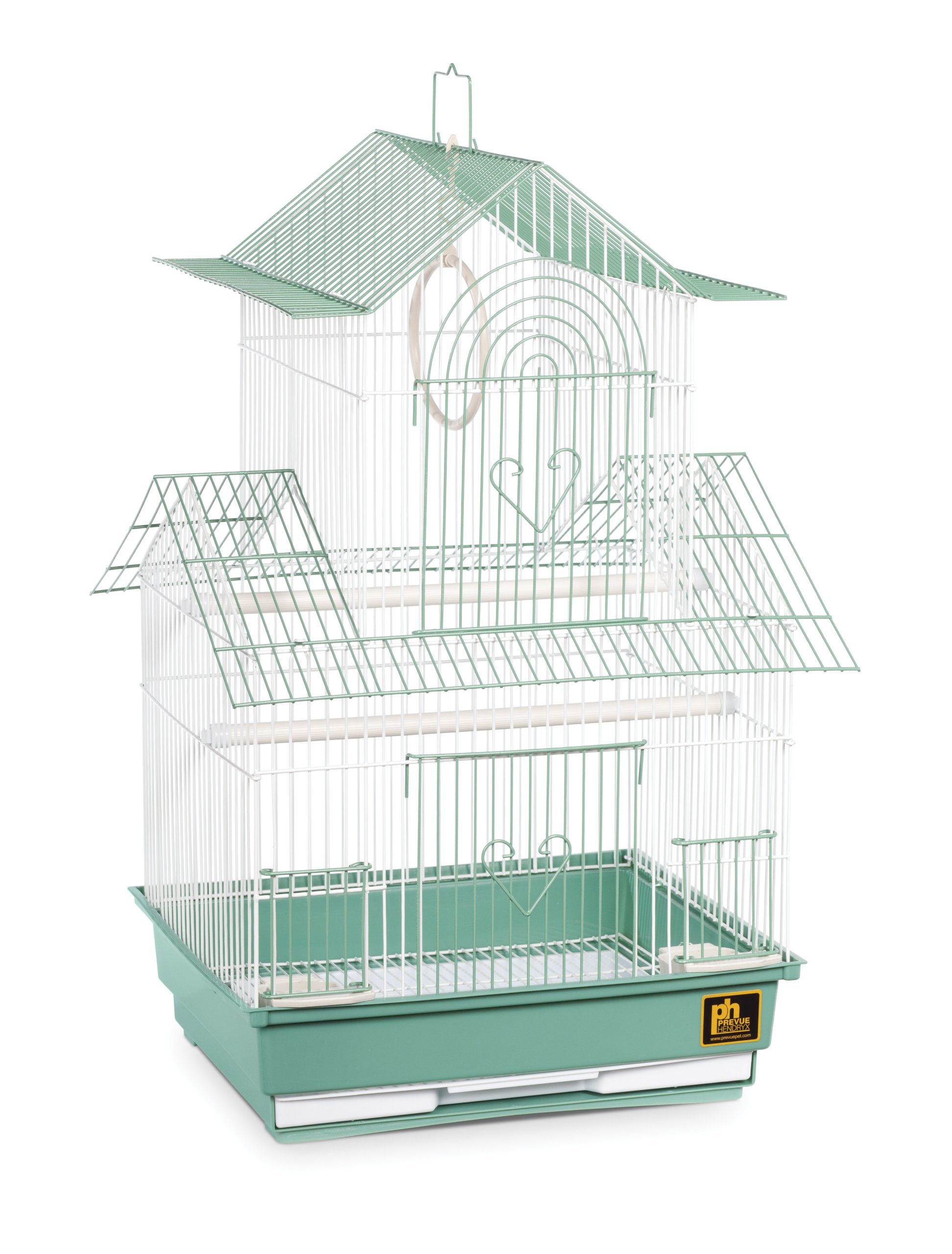 Prevue Hendryx SP1720-4 Shanghai Parakeet Cage, Green and White by Prevue Hendryx