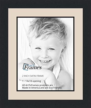 Amazoncom 14x18 14 X 18 Picture Frame Satin Black 2 Wide