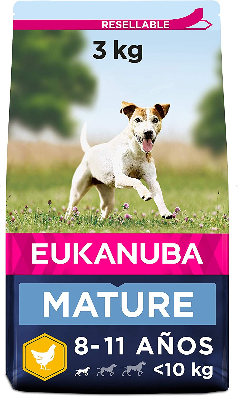 Eukanuba Alimento seco para perros avanzada y anciano de razas pequeñas con pollo 3 kg