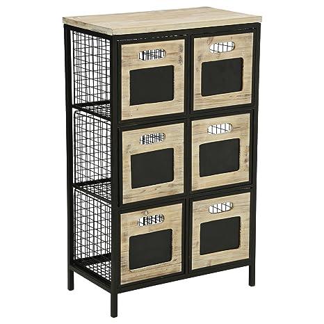 Mueble cómoda 6 cajones - Estilo Taller, Industrial y Loft ...
