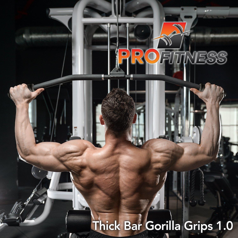 Gorilla Grip 1.0 levantamiento de pesas de grosor Grips - Fitness - Accesorio para pesas, mancuernas - rápidamente fortalecer los antebrazos, bíceps, pecho ...