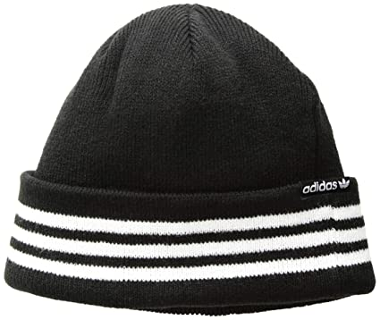 655ad400 adidas Men's Originals Foundation 2-Way Beanie, Black/White, One Size