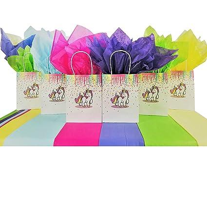 Amazon.com: RainBowBucky Bolsas de regalo de unicornio para ...