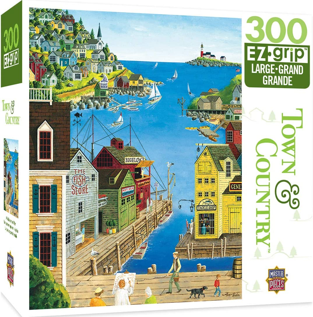 MasterPieces Town & Country 300 Puzzles Collection - A walk on the pier 300 Piece Jigsaw Puzzle