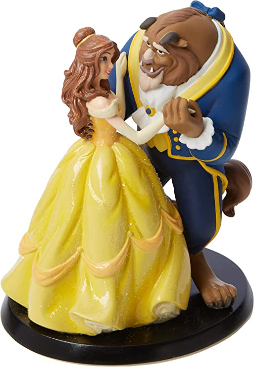 Amazon.com: Enchanting Disney Belle Wedding Cake Topper: Kitchen ...