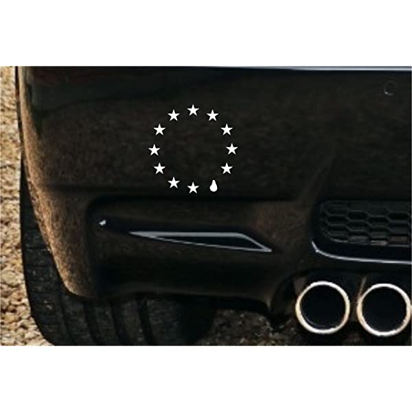 EU Teardrop Flag REMAIN European Referendum  Car Sticker Decal 15CM