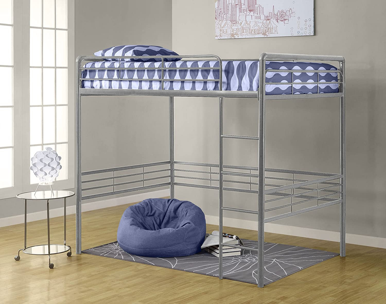 Amazon.com: Dorel Home Products Full Loft Bed, Silver: Kitchen U0026 Dining