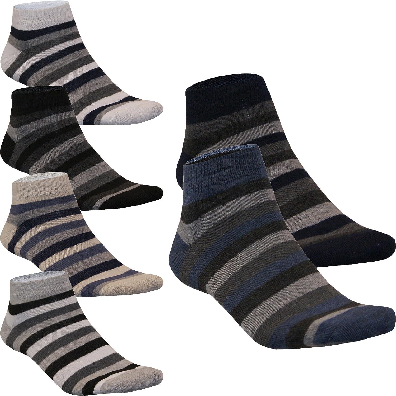 12 24 Paar Sneaker Socken Kurzsocken Füßlinge Herren Streifen mUSTER Baumwolle von SGS