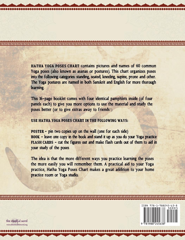 Hatha Yoga Poses Chart 60 Common And Their Names