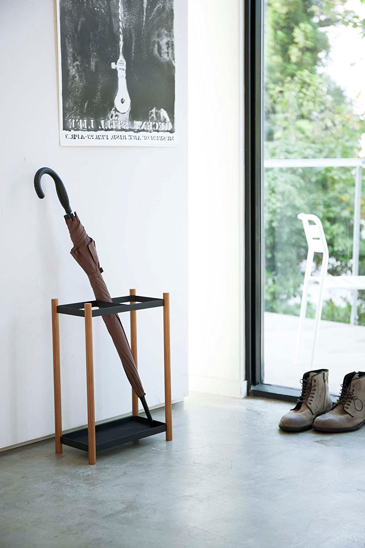 Cane Walking Sticks Holder 18-inch Minimalistic Open Umbrella Stand Free Standing Rack Black