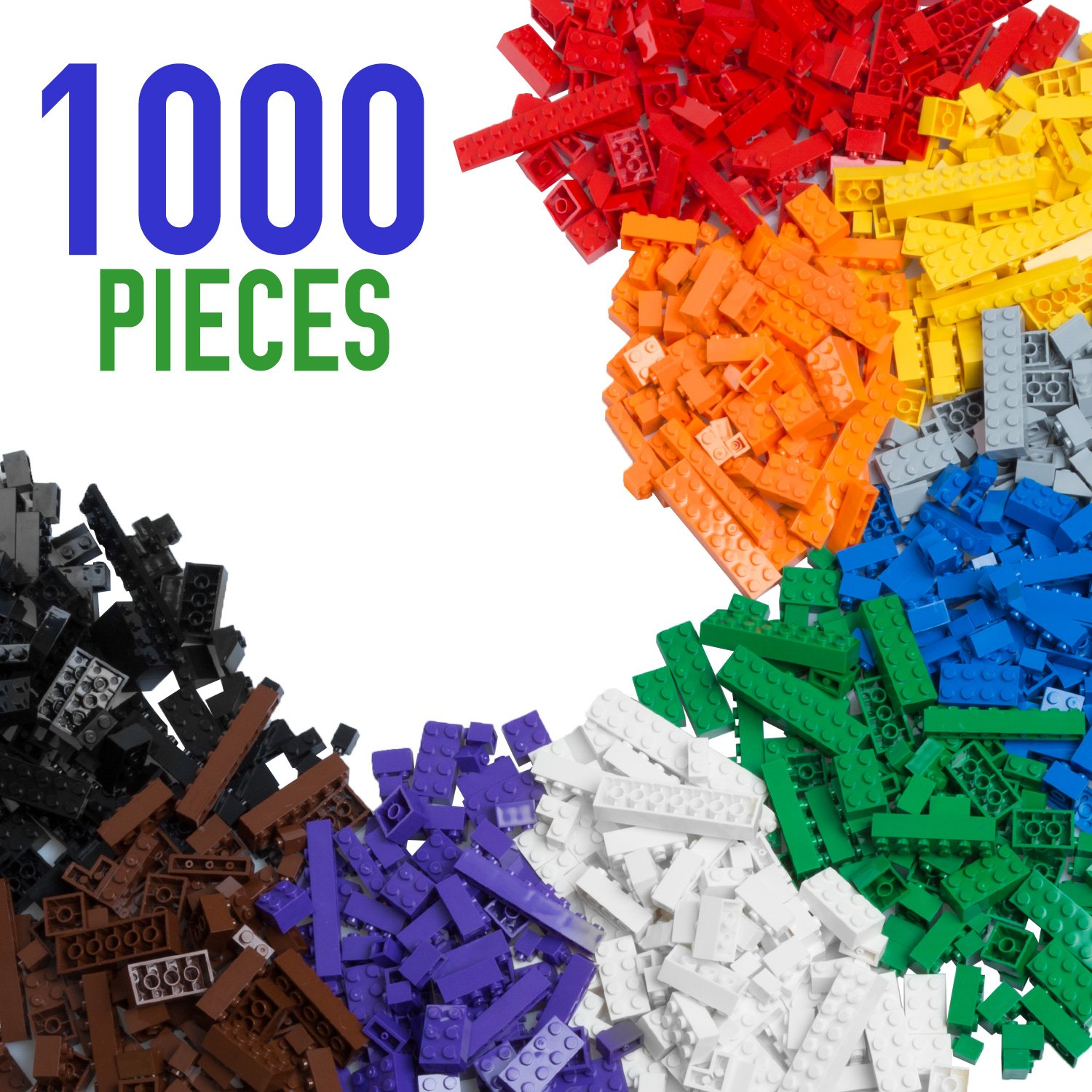 Barcaloo Building Bricks - 1,000 Piece Brick Building Kit - Compatible with all Major Brands Review
