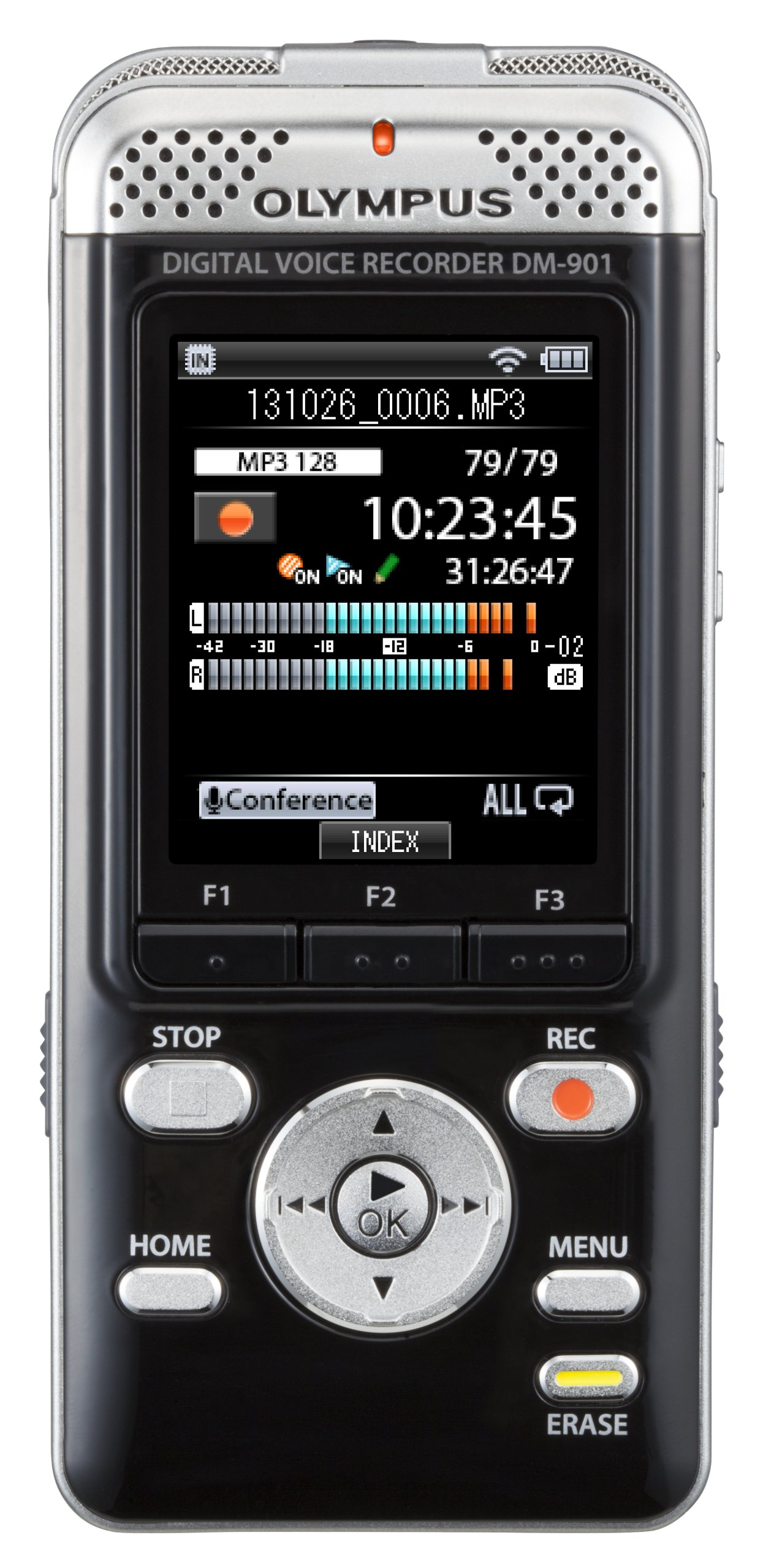 Olympus DM-901 Voice Recorder with 4 GB Built-In-Memory