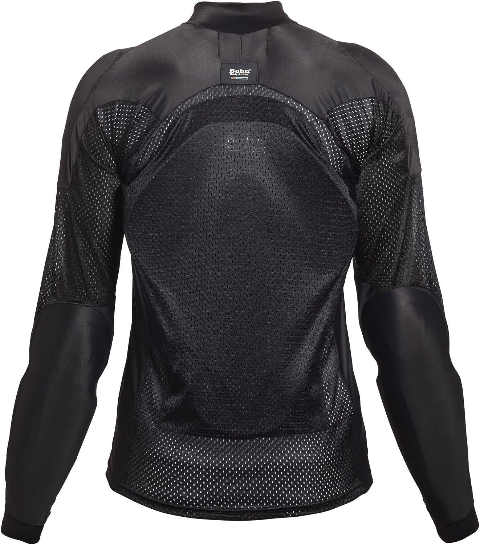 Small Red//Black Bohn All-Season Airtex Armored Riding Shirt