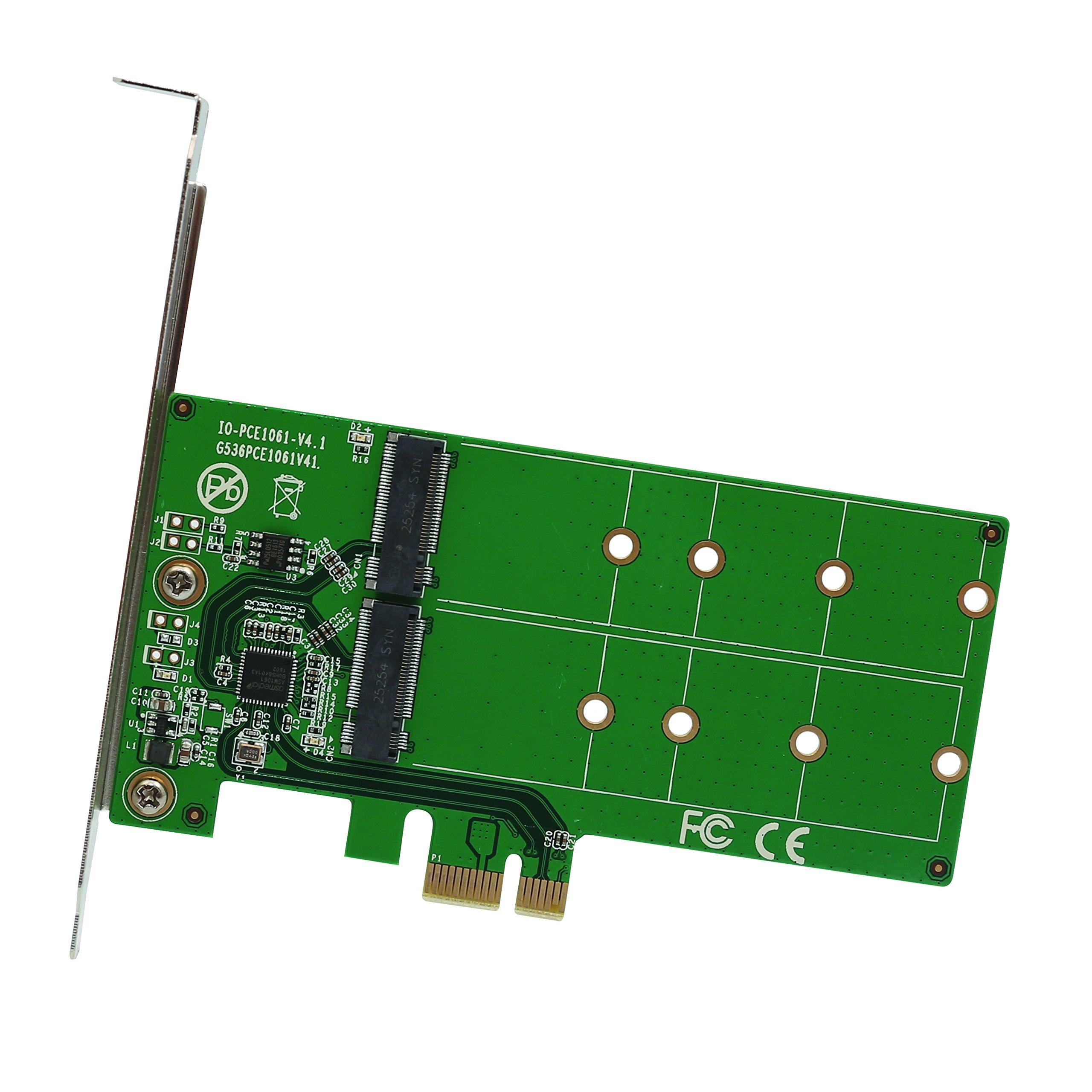 Ssd M.2 De 2 Puertos Para Adaptador Pci-e X1 B O Tecla B + M (si-pex40115)