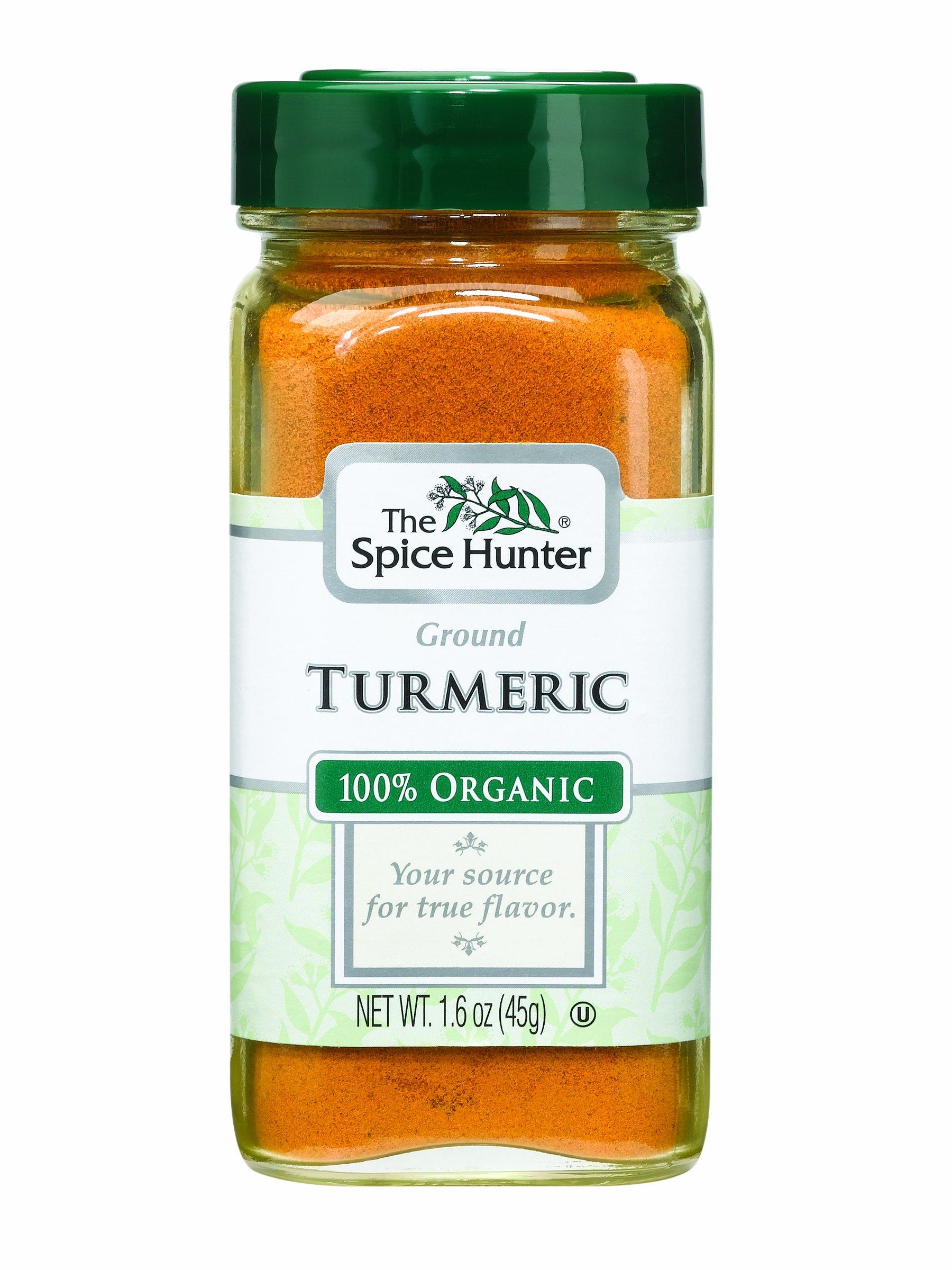 The Spice Hunter Turmeric, Ground, Organic, 1.6-Ounce Jars (Pack of 6)