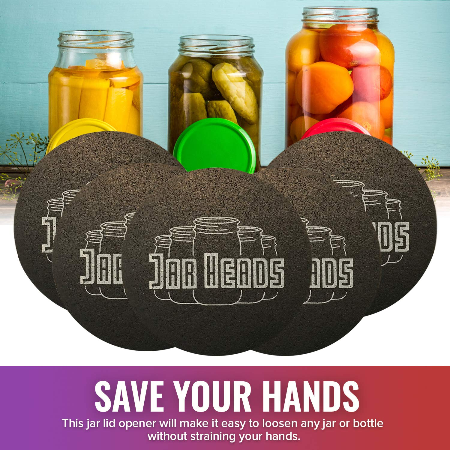Rubber Jar Opener Grippers Set of 5 Thick Multi Purpose Jar Gripper Pads Made in The USA Great for Weak or Arthritic Hands Open Jars and Bottles Easy