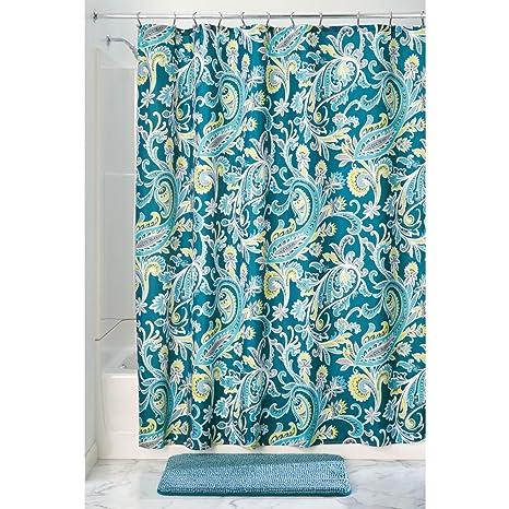 InterDesign Harper Paisley Fabric Shower Curtain