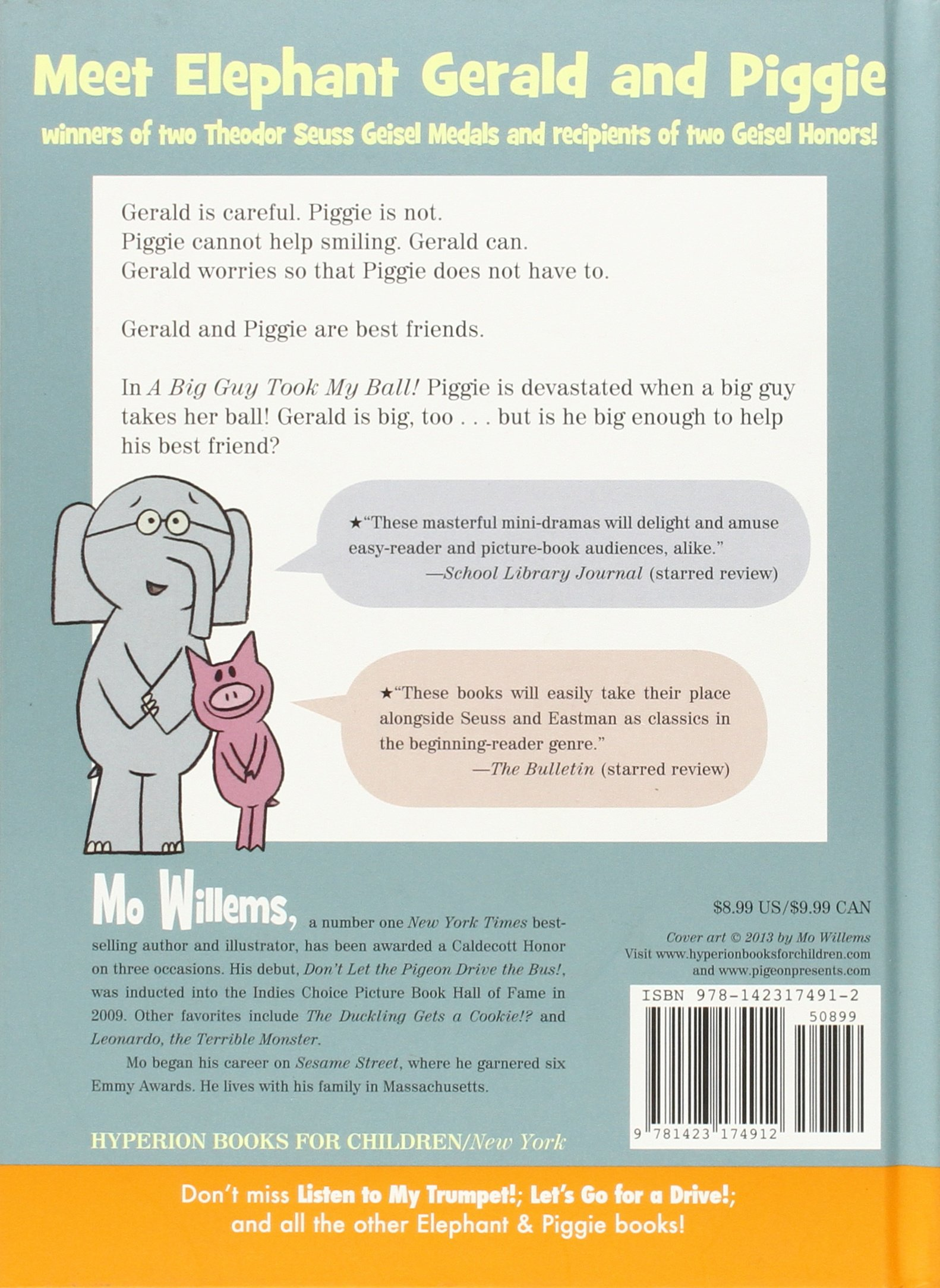 a big guy took my ball an elephant and piggie book mo willems