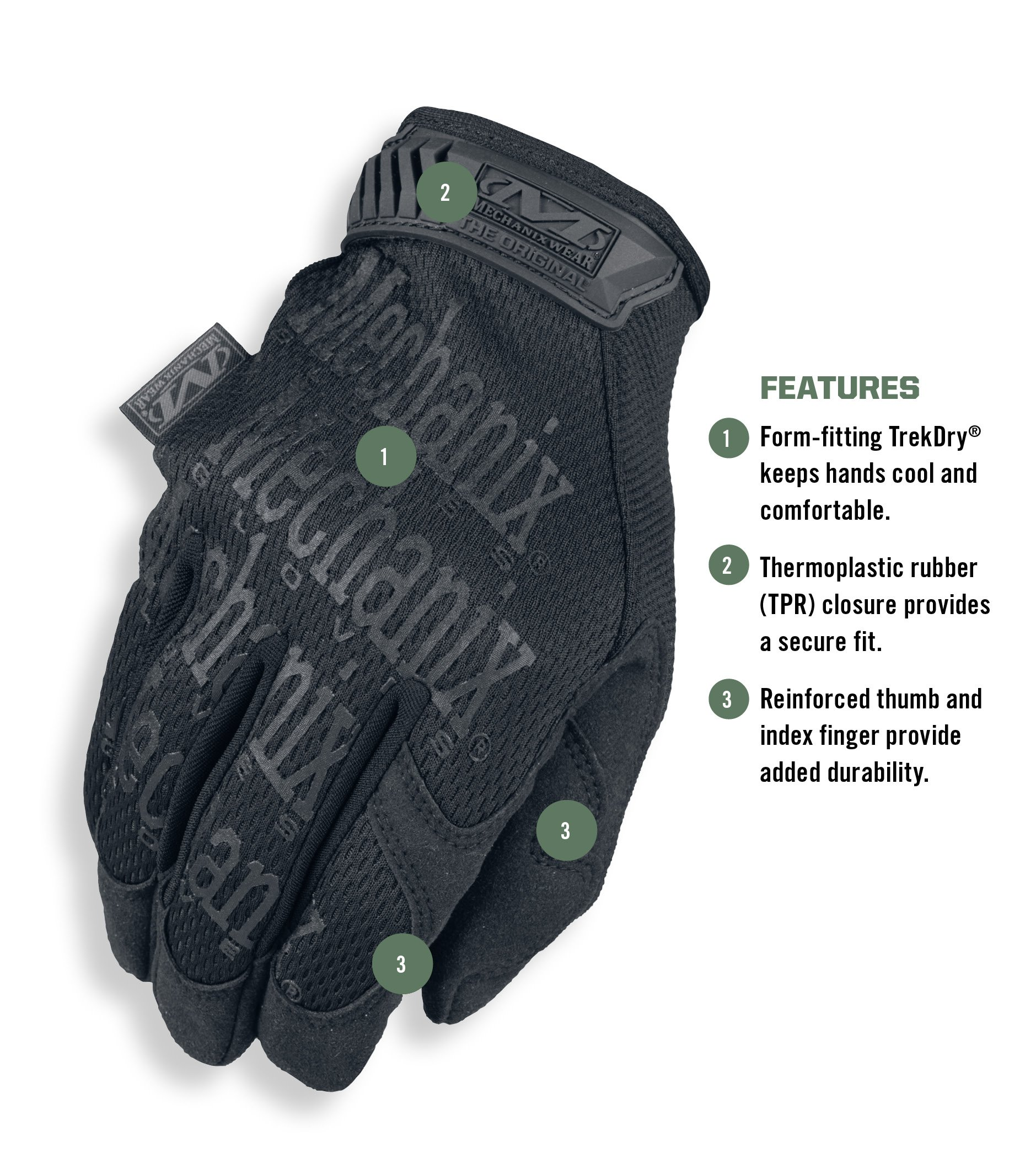 Mechanix Wear - Original Covert Tactical Gloves (Large, Black) by Mechanix Wear (Image #2)