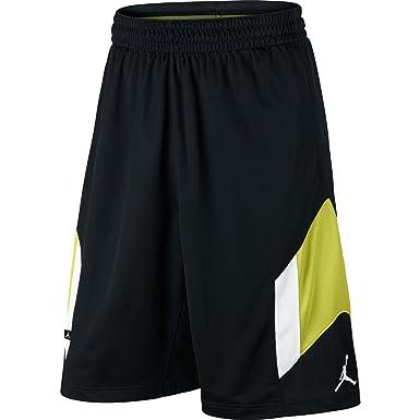202343b9471 Air Jordan Rise 3 Men's Basketball Shorts Black/White/Neon Green 612853-011
