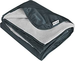 XL Plush Fleece Outdoor Stadium Rainproof and Windproof Picnic Blanket - Camp Blanket (Slate Gray)