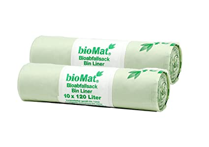 Biomat BS-120-10 - Bolsas de basura biodegradables para ...