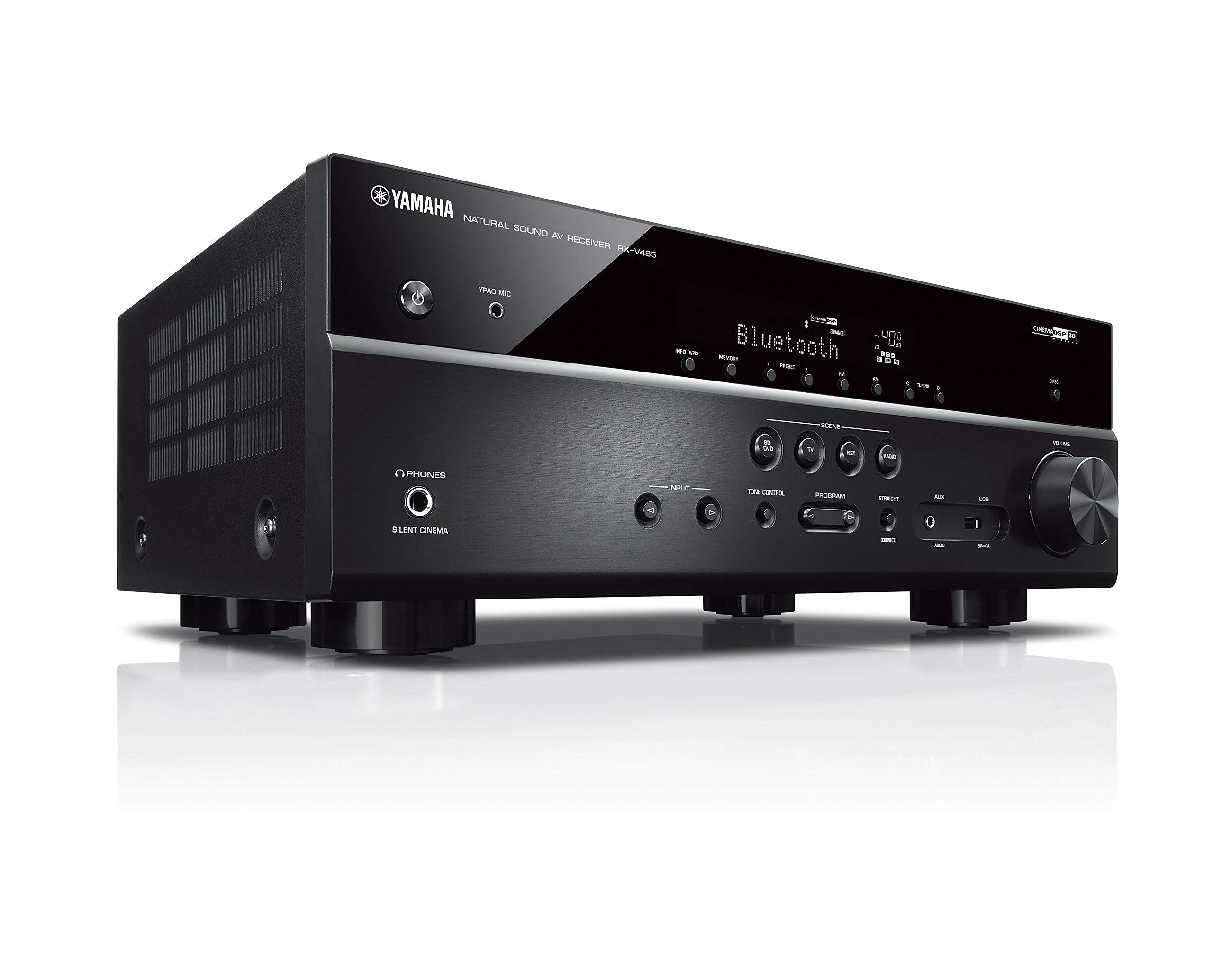 Yamaha RX-V485BL 5.1-Channel 4K Ultra HD AV Receiver with MusicCast - Black (Renewed) by Yamaha (Image #3)