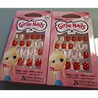 Little Fing'rs Self Stick Girlie Nails Glitter French by Fing'rs