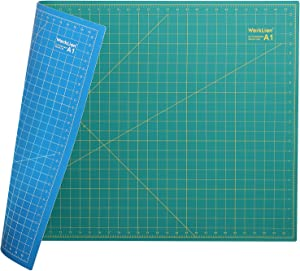 """WORKLION 24"""" x 36"""" Large Self Healing PVC Cutting Mat, Double Sided, Gridded Rotary Cutting Board for Craft, Fabric, Quilting, Sewing, Scrapbooking - Art Project"""