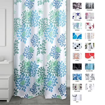 Ridder 403260 Duschvorhang Textil Ca 180 X 200 Cm Spring Amazon