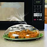 Amazon Price History for:Microwave Hover Anti-Sputtering Cover, New Food Splatter Guard Microwave Splatter Lid with Steam Vents   11.5 – Inch
