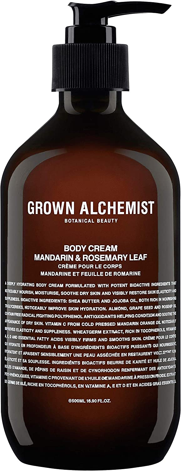 Grown Alchemist Body Cream - Mandarin & Rosemary Leaf - Made with Organic Ingredients (500ml / 16.9oz)