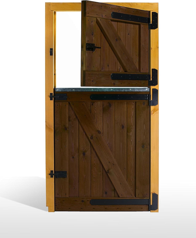 ESTRUCMADER - Puerta Partida en 2 Hojas para Box de Caballo. Mod. Pre 100x210, Roble/Cerezo/Nogal/Natural