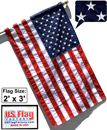 Patch 80mm x 45mm American Flag USA Stars and Stripes Embroidered Badge